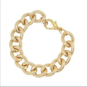NWOT Textured Gold Chain Bracelet